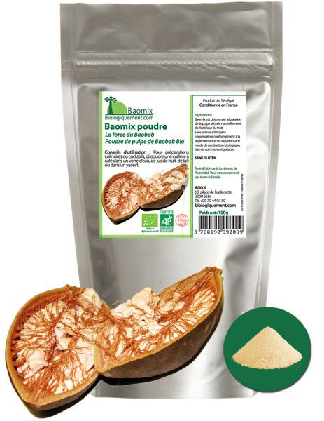 Baomix la poudre de baobab bio pour préparer le bouye bio